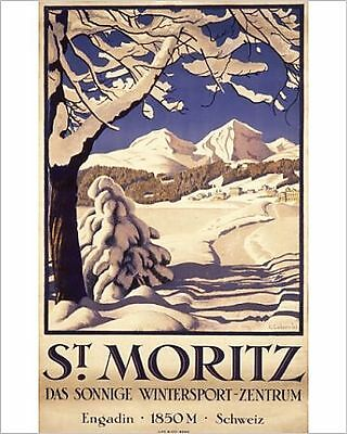 25x20cm Photo-Poster advertising St Moritz for winter sports-4433817-8105