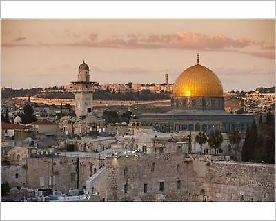 25x20cm Photo-Dome of the Rock and the Western Wall, Jerusalem, I-3633418-8105
