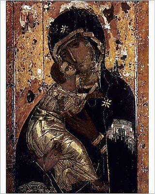 25x20cm Photo-THE VIRGIN OF VLADIMIR. Russian icon painted at Con-6248959-8105