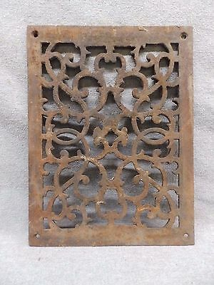 Antique Cast Iron Fireplace Grill Grate Wall Ceiling Vent Old Vintage 560-17R