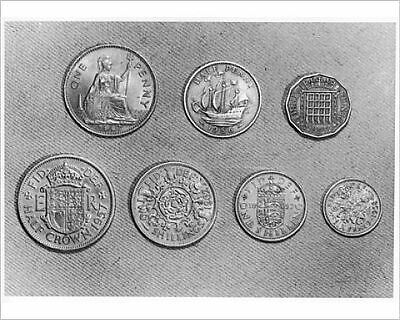25x20cm Photo-'OLD' ENGLISH COINS-591970-8105