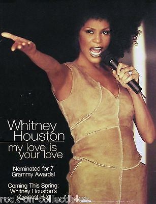Whitney Houston 2000 My Love Is Your Love Original Promo Poster