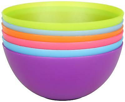 Halfords Outdoor Camp Travel Cookware Cooking Camping Plastic Bowl Set Of 6