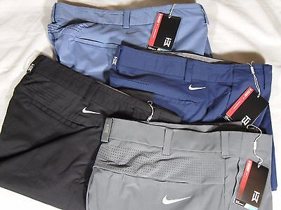 Nike Golf Tiger Woods TW Adaptive Fit Woven Pants Black Gray Blue Jade 726220