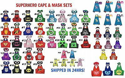 Kids Superhero Cape Mask Set Super Hero Batman Superman PJ Heroes My Little Pony