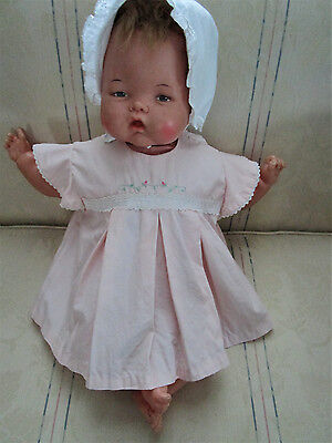Vintage 50's 60's Baby/toddler Peachy Pink Embroidered Lace Dress, Adorable!