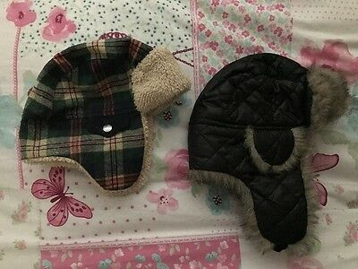 Pair of baby boys winter hats size 1-2 years