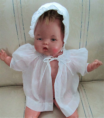 Vintage 50's 60's Baby/toddler White & Blue Smocked Blouse, Adorable! Excellent