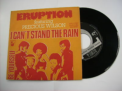 """Eruption - I Can't Stand The Rain - 7"""" Vinyl Italy 1978 Excellent"""