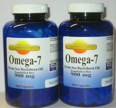 Omega 7 Fatty Acids - 400 Capsules - 900mg/serving - Natural Sea Buckthorn