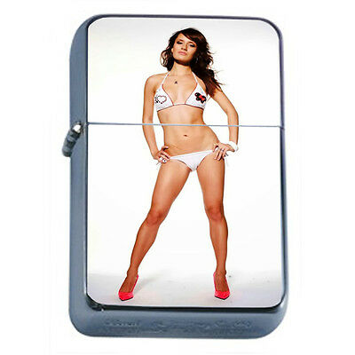 Russian Pin Up Girl D4 Windproof Dual Flame Torch Lighter Refillable