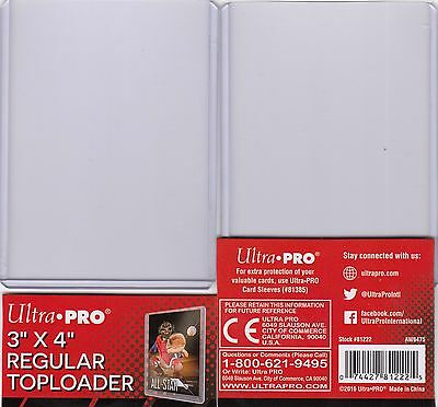 "ULTRA PRO TOPLOADER CLEAR 3"" x 4"" REGULAR TRADING CARD PROTECTION TOP LOADER"
