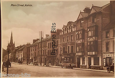 Main Street Antrim Co Antrim Postcard Northern Ireland Irish.
