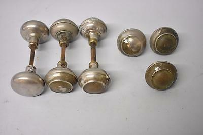 9 Antique Chrome Plated Door Knobs Handles