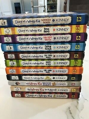 Diary Of A Wimpy Whimpy Kid Book Lot Hardcover Series 11 books (1paperback)