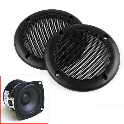 2PCS 3.5''inch Black Circle Round Mesh Woofer Speaker Protective Grille