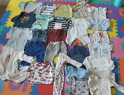 Bundle of baby boys clothes 3-6 months