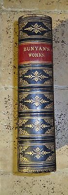 John Bunyan Works Written In Welsh 1864 Leather Bound Book