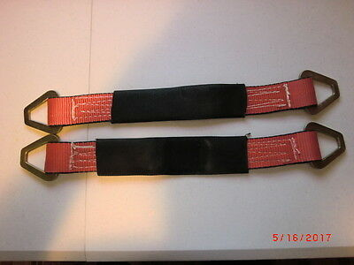 A Pair of 2ft. Heavy-Duty Polyester sling/Tree Wrap with Steel ends (2)