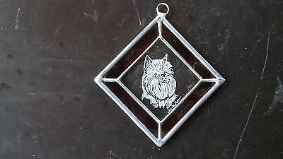 Brussels Griffon-Hand engraved Medallion by Ingrid Jonsson