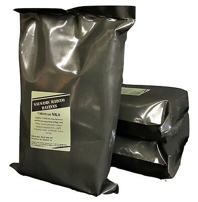 MRE Lithuanian Army military ration pack, camping food meal ready to eat 2 packs