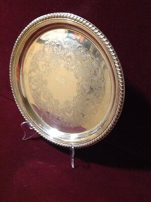 Vintage WM Rogers Eagle And Star 1825-1840 Silverplate Serving Platter #161