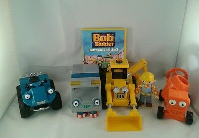 Bundle Of Bob The Builder Toys 4 Vehicles And 1 Figure And 1 Dvd