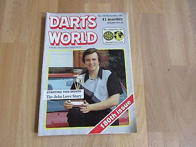 DARTS World Magazine November  / Nov 1987 Issue Number 180
