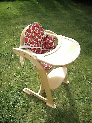 East coast hardwood high chair