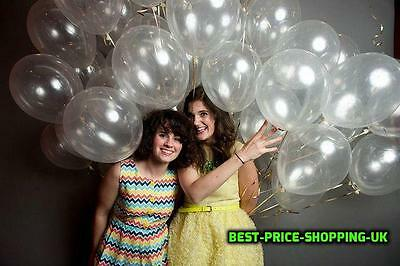 100 X Lot Clear Baloons Transparent Balloons Wedding & Birthday Party Decoration