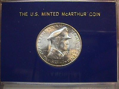 PHILIPPINES 1947 McARTHUR ONE PESO SILVER COIN. UNCIRCULATED.. FREE SHIPPING!