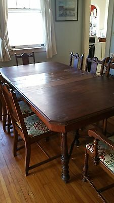 Antique dining room set (table, chairs and 2 buffets)