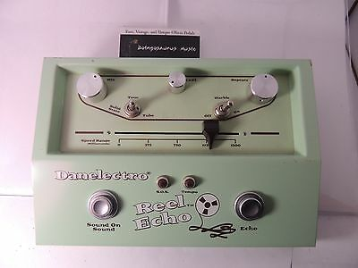 Rare Danelectro Reel Echo Tape Style Delay Effects Pedal Free Usa Shipping