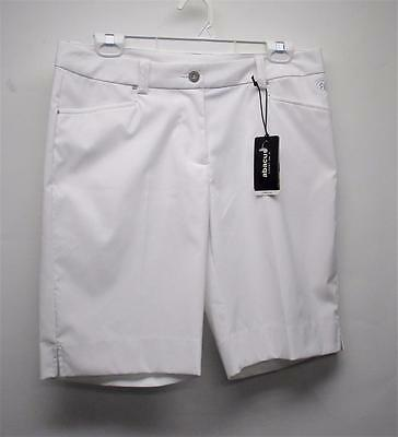 New Ladies Size US 10 Abacus Dry Cool White polyester spandex golf shorts