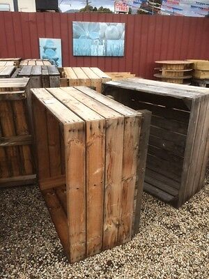 raised garden ex orchard crate planter box trough wooden rustic timber herb $79