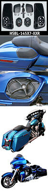 "J&M Saddlebag-Lid Kit w/ROKKER® XXR 5X7"" Speakers Plug-n-play Wiring 14-17 Harle"