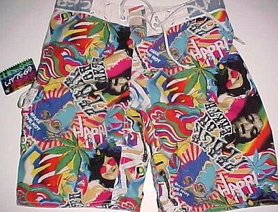 69 Slam Youth Board Shorts Pyschedelic Joplin Hendrix Lennon Cannabis Peace 12