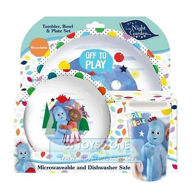 In The Night Garden Mealtime 3 Piece Dinner Set - Plate, Bowl and Tumbler