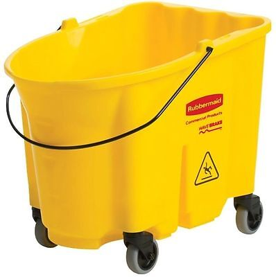 Mop Service Pail Mop Bucket Cleaning Supplies Non Marking Caster Wheels 35 Qt.