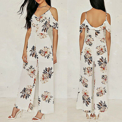 Women Clubwear Summer Playsuit Party Jumpsuit&Romper Trousers Loose Long Pants