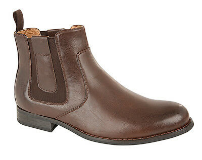 New Mens Quebec Brown Comfortable Casual Smart Chelsea Boot Size 13