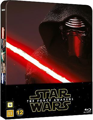 Star Wars: The Force Awakens Limited Edition Steelbook 2-Disc Blu Ray