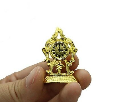 1:12 dollhouse miniature dollhouse accessories mini golden clock toy girl