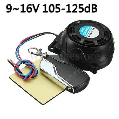 125dB Motorcycle Anti theft Alarm Systems Remote Control Security Engine 9-16V