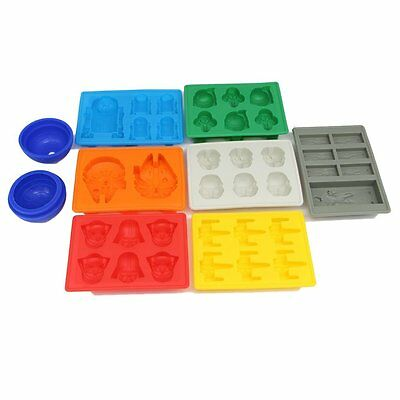 8pcs Star Wars theme Baking Silicone Ice Cube Trays Candy Silicone Molds