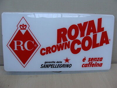 Insegna Royal Crown Cola Rc San Pellegrino Rare Old Sign Cartello Luminoso
