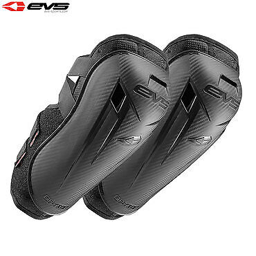 EVS Option Motorcycle Motorbike Reinforced Elbow Guards Pair Black - Mini