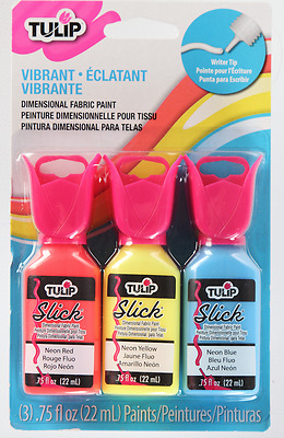 Tulip 3D Fabric Paint 3PK  Washable @40 Paint for fabric, glass, ceramic &metal.