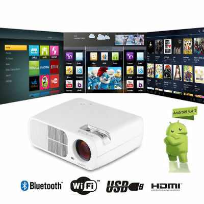 1080P LED Proyector 5000 Lúmenes Android 8GB Bluetooth WiFi Teatro USB HDMI DTV