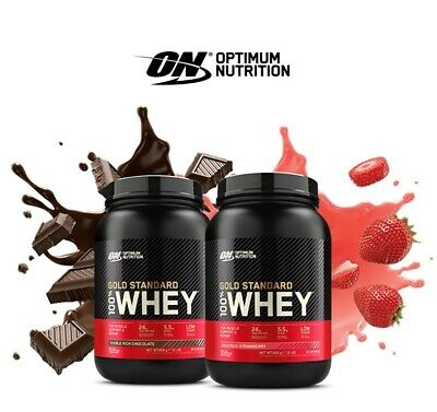 Optimum Nutrition 100% Whey Protein Powder 908g Gold Standard ON Free Delivery